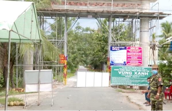 Vùng xanh TP Bến Tre được chốt chặn nghiêm ngặt.