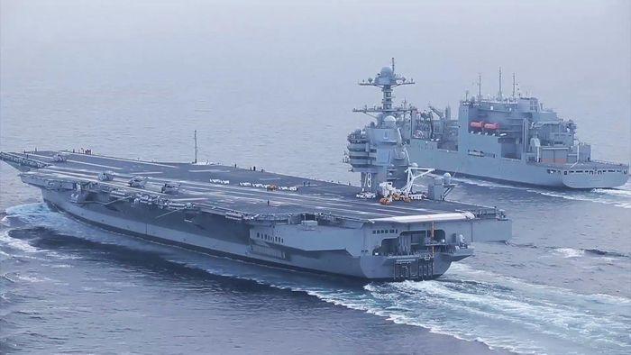 Vũ khí của tàu gồm 2 bệ phóng tên lửa RIM-162 Evolve SeaSparrow và RIM-166 Rolling Airframe. Các tàu sân bay tương lai thuộc lớp sẽ được nâng cấp bằng pháo laser và hệ thống giáp tiêu tán năng lượng để bảo vệ chống lại tên lửa dẫn đường GPS tốc độ cao.