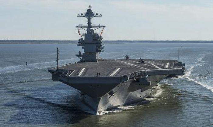 Sức mạnh của tàu sân bay hạt nhân lớp Gerald Ford chính là tiêm kích tàng hình thế hệ năm F-35C Lightning II thay vì F/A-18E/F Super Hornet như hiện nay.