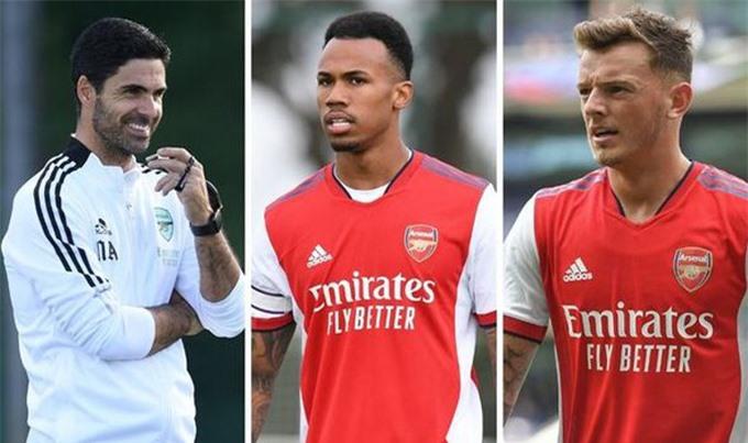 Ben White và Gabriel sẽ là lựa chọn hàng đầu ở trung tâm hàng thủ của Arsenal