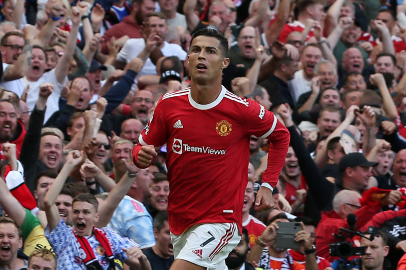Cristiano Ronaldo góp công lớn vào chiến thắng của Man Utd. Ảnh: Getty.