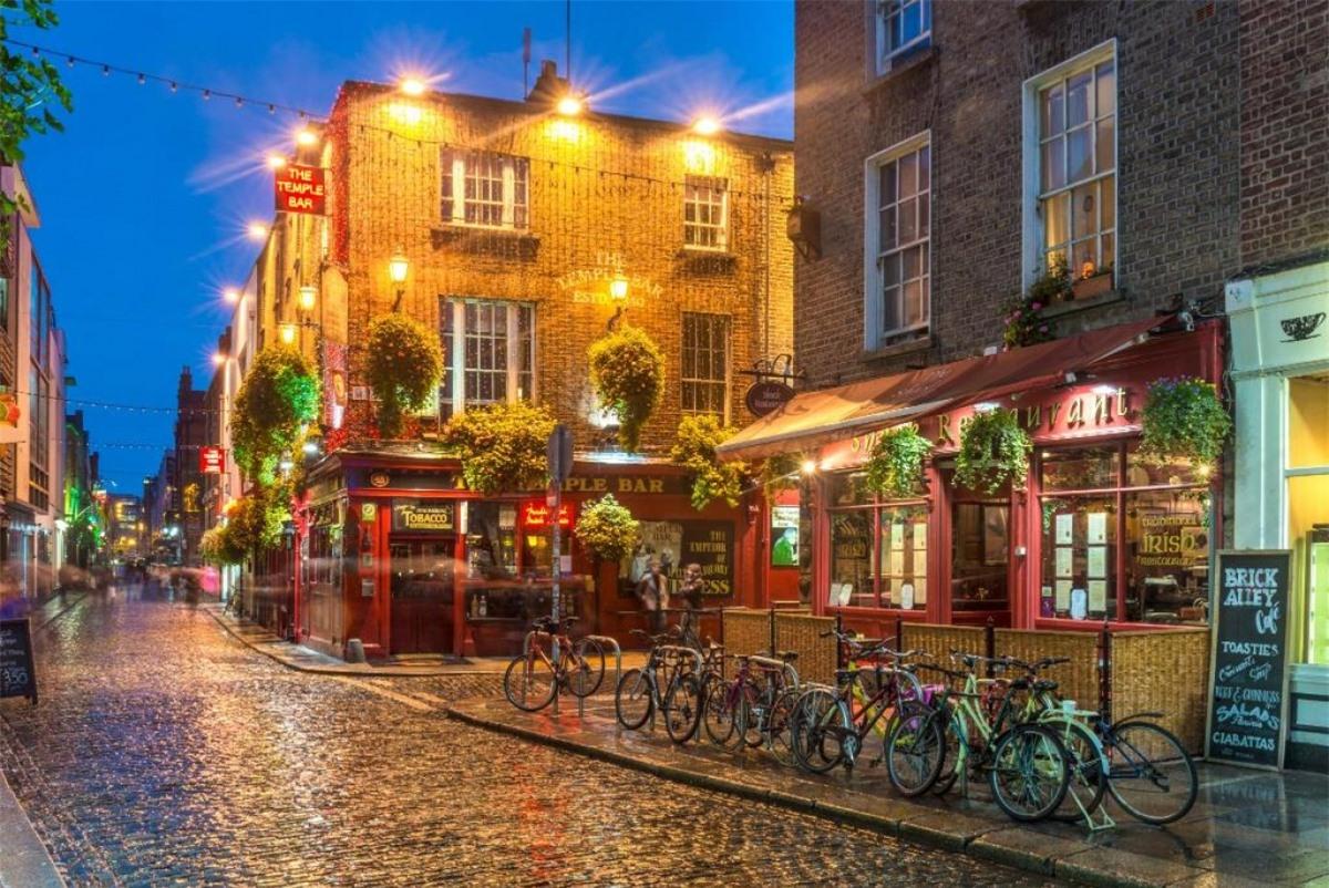 Khu Temple Bar tại Dublin, Ireland. Nguồn: Booking