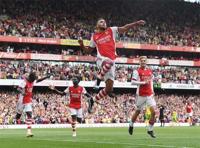 Aubameyang ghi bàn duy nhất ở trận đấu Arsenal vs Norwich