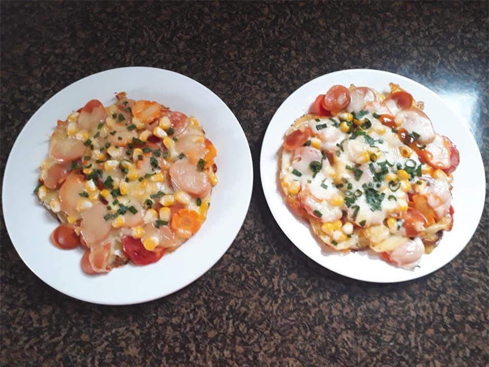 Cách làm pizza từ khoai tây đơn giản không cần lò vi sóng