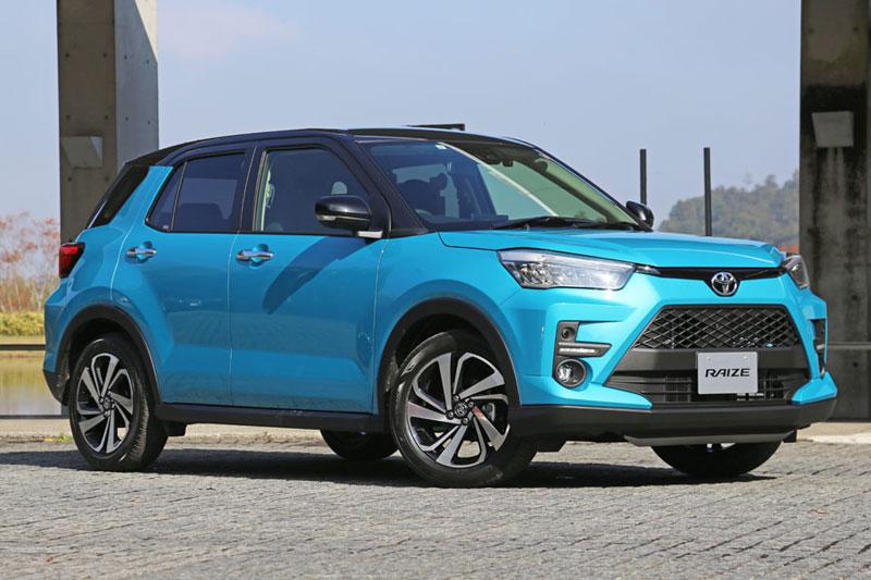 9. Toyota Raize (doanh số: 55.495 chiếc, chiếm 2% thị phần).