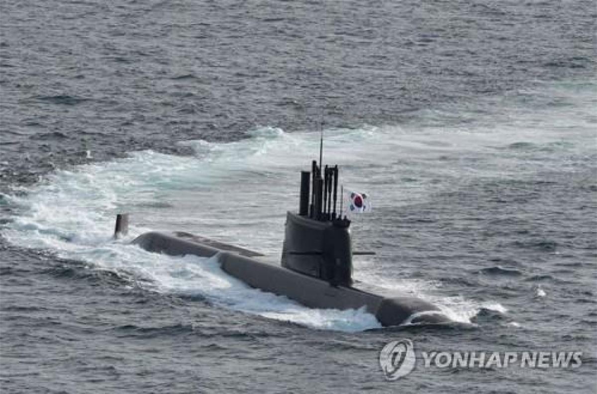 Tàu ngầm Dosan Ahn Chang-ho của Hàn Quốc. Ảnh: Yonhap