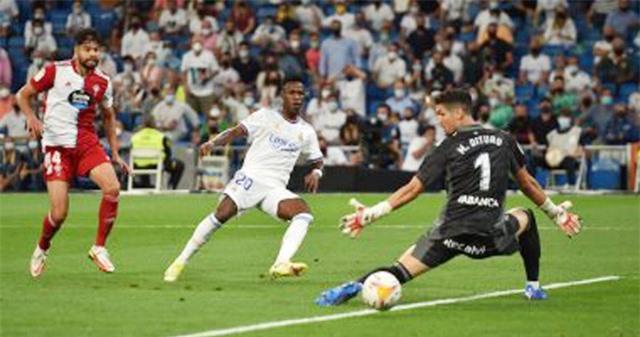 Tình huống ghi bàn của Vinicius trong trận đại thắng Celta 5-2.