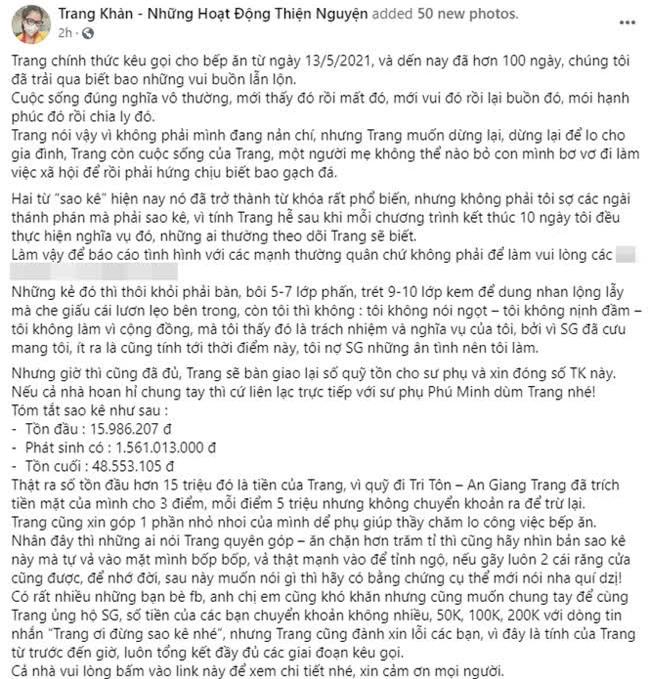 Sao Việt tuyên bố dừng làm từ thiện: Người sức tàn lực kiệt, người phải nén nước mắt, huỷ follow bạn bè vì lý do này? - Ảnh 8.