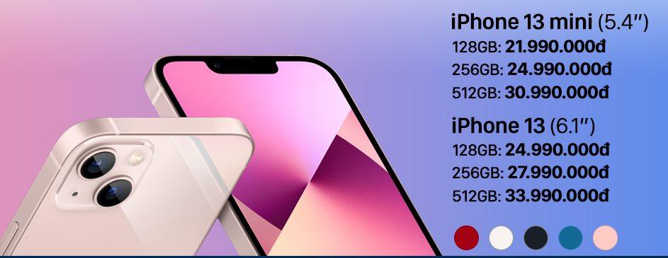 Giá dự kiến của iPhone 13 mini và iPhone 13.