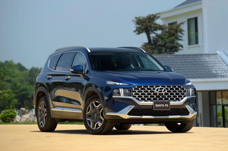 Hyundai Santa Fe 2021. Ảnh: TC Motor.