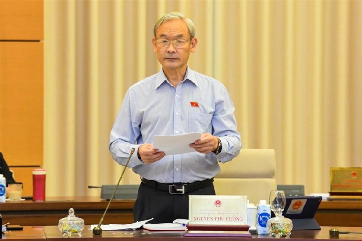 Chủ nhiệm Uỷ ban TC-NS Nguyễn Phú Cường trình bày báo cáo thẩm tra. Ảnh: Quốc hội