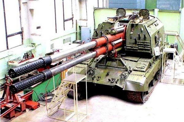 Xuất hiện hình ảnh đầu tiên về pháo tự hành hai nòng mới nhất của Nga trên bệ Armata