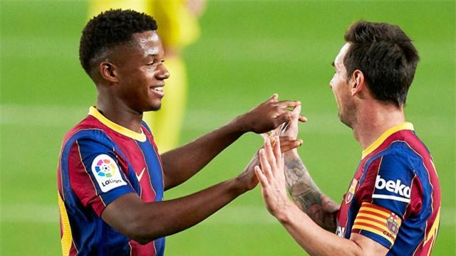 Fati được trưởng thành vượt bậc nhờ được Lionel Messi dìu dắt