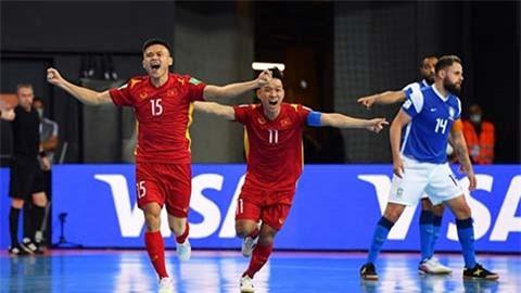 ĐT futsal Việt Nam gặp Nga hoặc Kazakhstan ở vòng 1/8 futsal World Cup 2021
