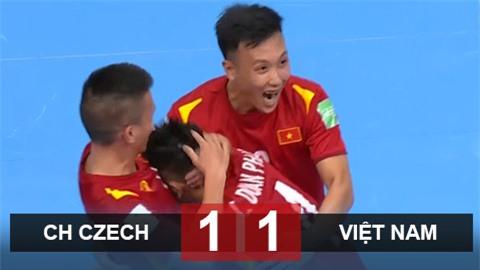 Kết quả futsal Việt Nam 1-1 CH Czech