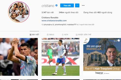 Top 10 tài khoản Instagram có lượt theo dõi 'khủng' nhất thế giới: Ronaldo và loạt 'sao bự' vẫn thua 'thế lực ngầm' này