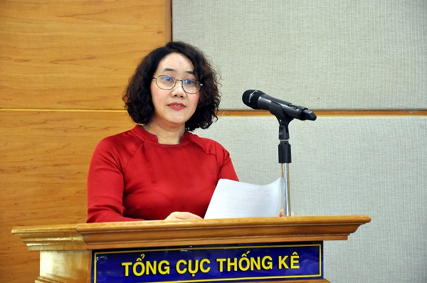 Bà Nguyễn Thị Hương, Tổng cục trưởng Tổng cục Thống kê.