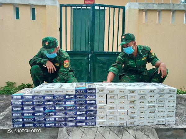 Bộ đội Biên phòng An Giang thu giữ 2.400 gói thuốc lá nhập lậu