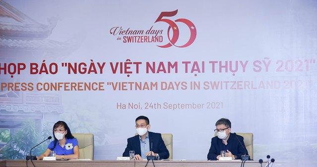 họp báo trước thềm chương trình Ngày Việt Nam tại Thụy Sỹ năm 2021