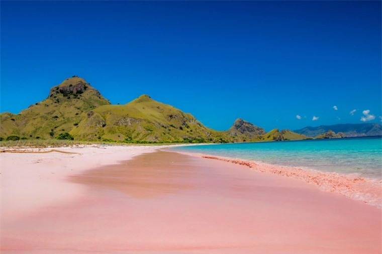 Lạ mắt với những bãi biển cát hồng tự nhiên tuyệt đẹp
