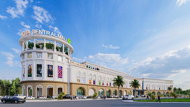 Cùng với các phố mua sắm, Aqua Central Mall quy mô 1,4ha do Nova Retail vận hành sẽ mang đến cho cư dân và du khách những trải nghiệm mua sắm thời thượng.