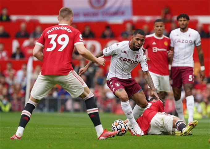 Hàng tiền vệ của Man United thi đấu rất tệ trước Aston Villa