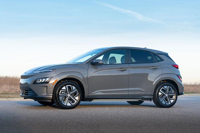 9. Hyundai Kona Electric.