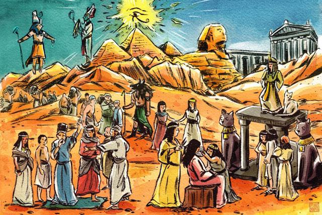 Ai Cập cổ đại được thống nhất vào khoảng năm 3.000 trước Công nguyên. Cụ thể, dưới thời các pharaoh, nơi này được thống nhất từ hai vương quốc là Thượng Ai Cập và Hạ Ai Cập. Thượng Ai Cập là vùng đất trồng trọt nằm dọc hai bờ thượng nguồn sông Nile, Hạ Ai Cập là vùng đất nằm quanh cửa sông Nile. Ảnh: Vanity Fair.