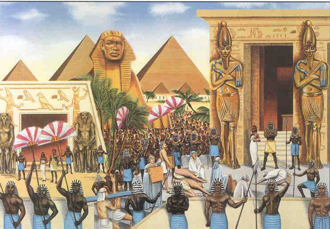 Kể từ khi được thống nhất, Ai Cập cổ đại đã trải qua ba thời kỳ hưng thịnh, bao gồm: Cổ Vương quốc (2.686-2.181 trước Công nguyên), Trung Vương quốc (2.134-1.690 trước Công nguyên) và Tân Vương quốc (1.549-1.069 trước Công nguyên). Ở giữa các thời kỳ này, Ai Cập cổ đại đã trải qua chiến tranh, thiên tai khiến đất nước suy yếu. Ảnh: Chloe Hanf.