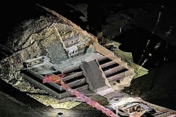 Phát hiện mới về đường hầm âm phủ trong lòng kim tự tháp ở Mexico