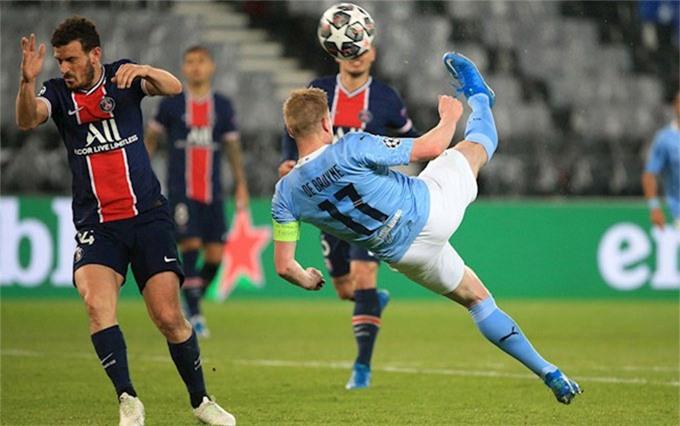 De Bruyne từng chọc thủng lưới PSG trên sân khách ở mùa giải trước