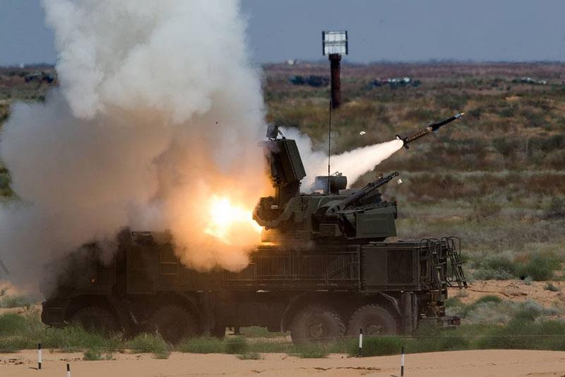 Hệ thống Pantsir-S Nga hạ gục UAV của khủng bố ở Syria
