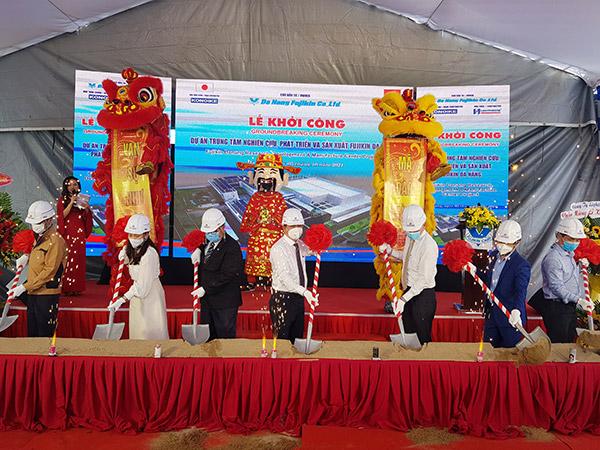 Lễ khởi công dự án Trung tâm Nghiên cứu, Phát triển và Sản xuất Fujikin Đà Nẵng tại Khu Công nghệ cao Đà Nẵng sáng 5/10