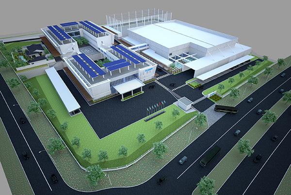 Phối cảnh dự án Trung tâm Nghiên cứu, Phát triển và Sản xuất Fujikin Đà Nẵng với tổng vốn đầu tư 35 triệu USD