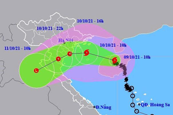 Dự báo vị trí và đường đi của bão số 7 (LIONROCK)