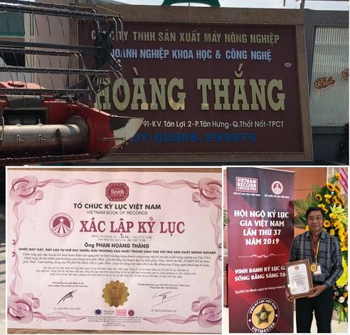 Doanh nghiệp KHCN Hoàng Thắng đã có nhiều sản phẩm phục vụ sản xuất nông nghiệp xác la75p kỷ lục quốc gia .