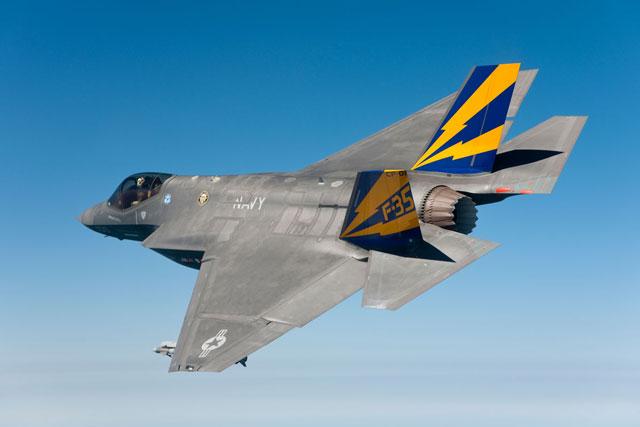 Tiêm kích F-35C Lightning II. Ảnh: Military.