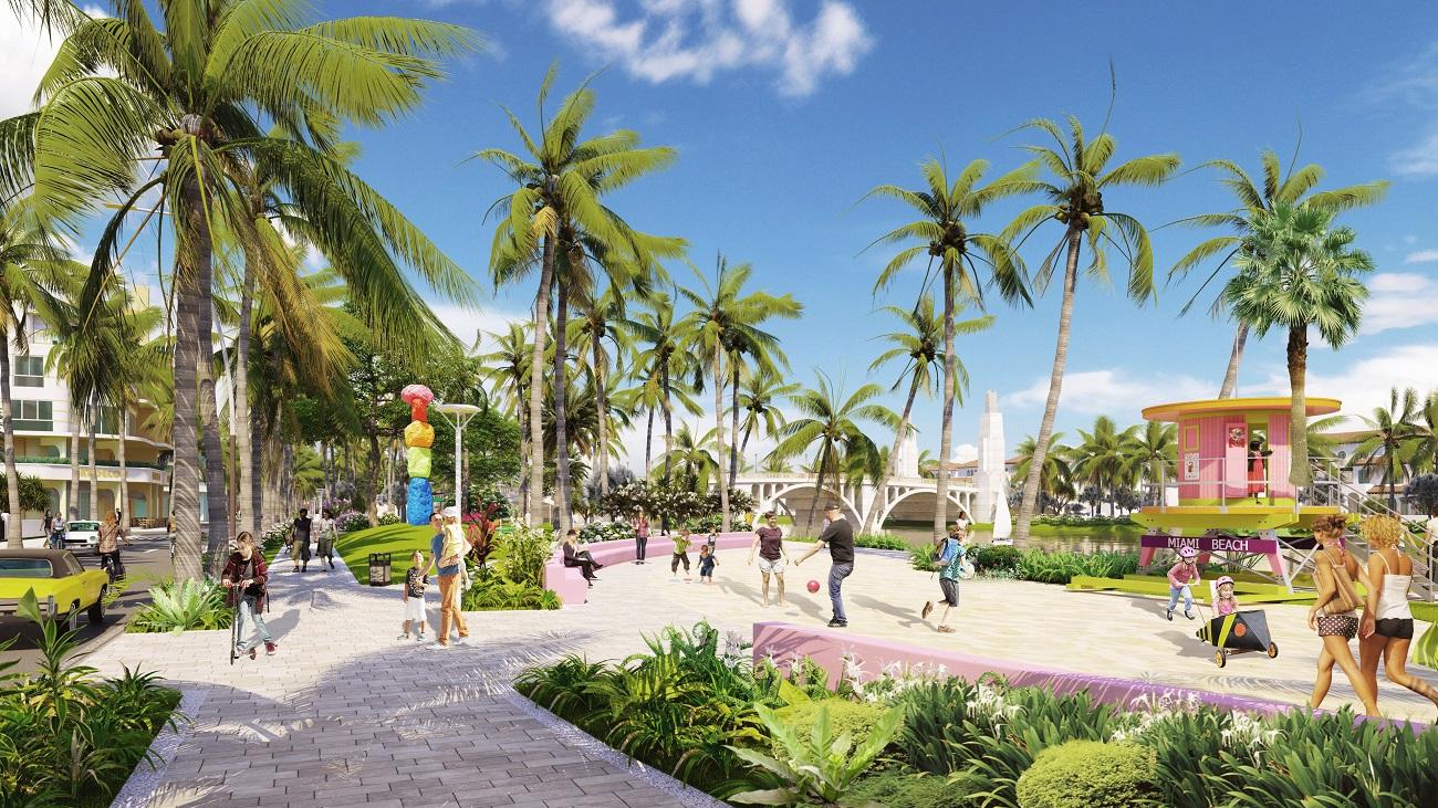 Sun Riverside Village góp phần hoàn thiện hệ sinh thái du lịch - thương mại - nghỉ dưỡng - lưu trú sầm uất bậc nhất xứ Thanh. Ảnh phối cảnh minh họa