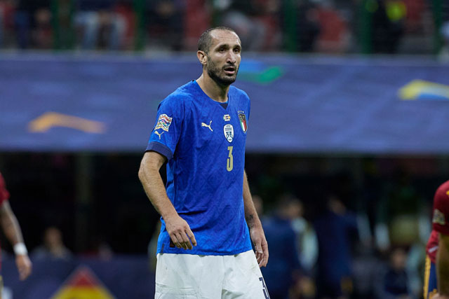 Hậu vệ trái: Giorgio Chiellini (Juventus, Italia).