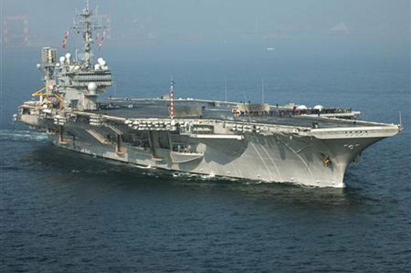 Tàu sân bay USS Kitty Hawk. Ảnh: Reuters