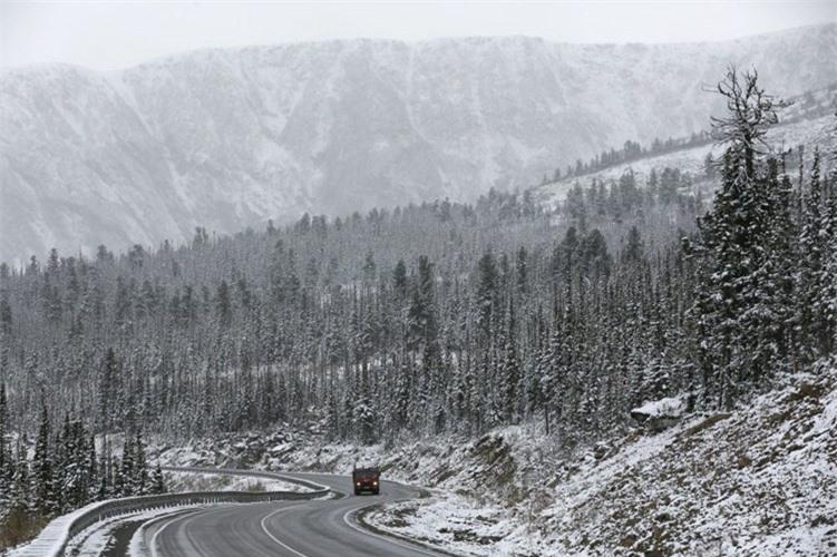 Mùa đông ở Tuva tuyết trắng trời.