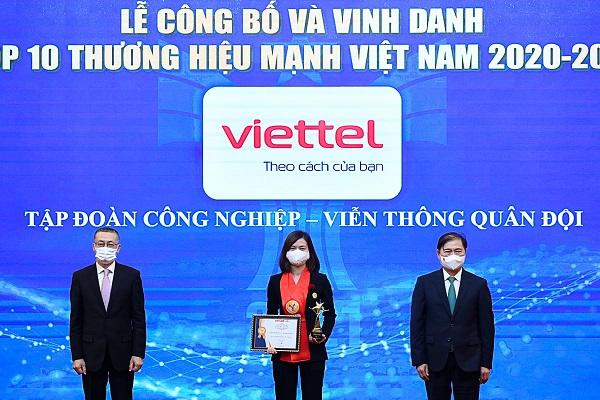 Viettel nằm trong Top 10 thương hiệu mạnh Việt Nam.