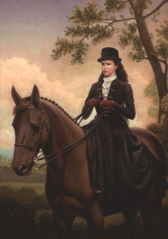 Cưỡi ngựa là môn thể thao yêu thích của hoàng hậu.