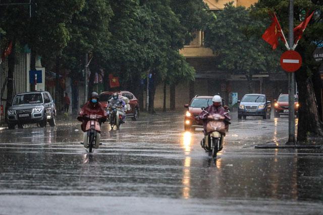 Ảnh hưởng không khí lạnh, Bắc Bộ và Hà Nội mưa vừa, mưa to