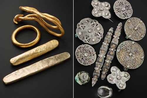 """Dò kim loại, đào được kho báu đầy vàng bạc """"từ 2 thế giới"""""""