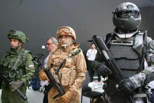 Binh sĩ Nga được trang bị như siêu nhân