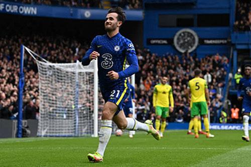 Ben Chilwell cân bằng kỷ lục của Lampard trong ngày Chelsea đại thắng Norwich