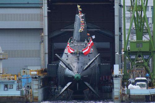 Tàu ngầm phi hạt nhân tối tân Nhật Bản vừa hạ thủy vượt xa tàu Nga - Trung Quốc