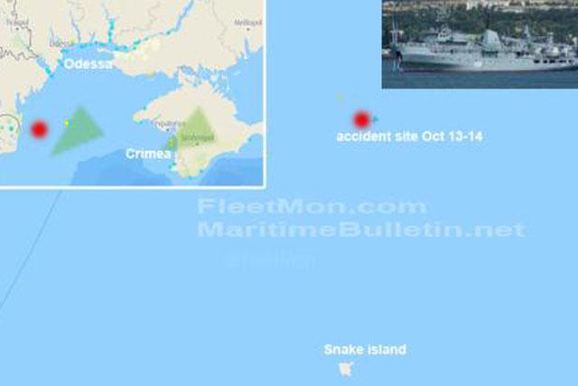 Hải quân Ukraine: Tàu quét mìn gặp nạn do thời tiết xấu