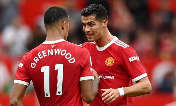 Ronaldo phát điên với Greenwood ở trận thua Liverpool